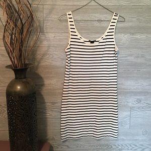 Stripped Sleeveless T-Shirt Dress